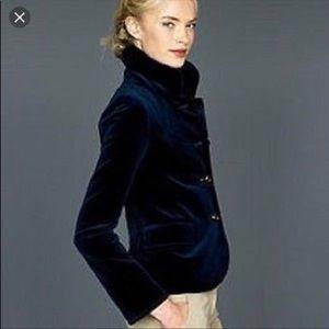 J. Crew Bella Velvet Jacket